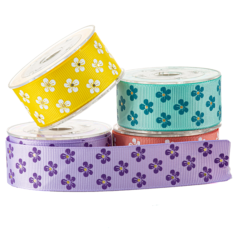 Printed Flower Ribbon