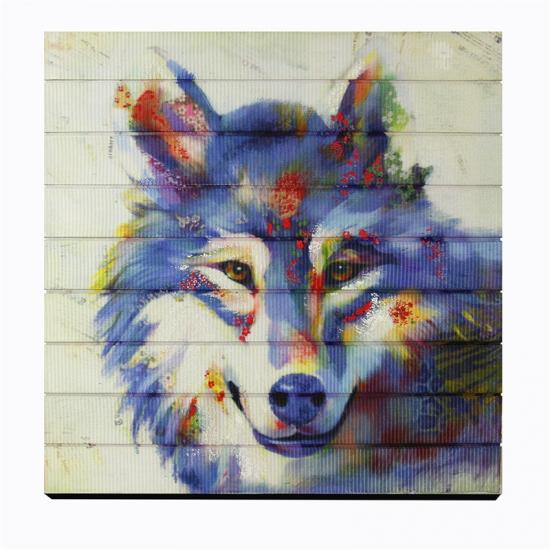 wolf animal painting ribbon prints