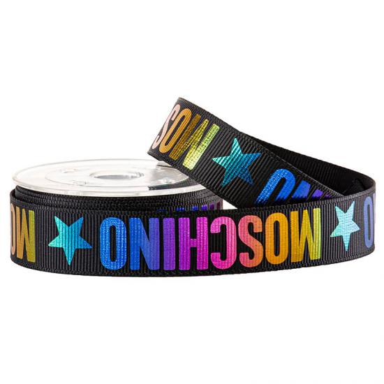 Rainbow Print Grosgrain Ribbon