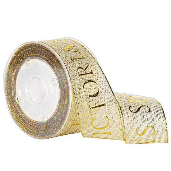 Custom Foil Gold Sheer Ribbon