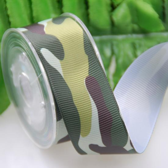 camouflage grosgrain ribbon